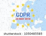 gdpr   general data protection... | Shutterstock .eps vector #1050485585
