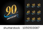 set of anniversary logotype.... | Shutterstock .eps vector #1050503087