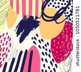 creative doodle art header with ...   Shutterstock .eps vector #1050511781