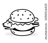 vector pork burger made from... | Shutterstock .eps vector #1050516425