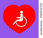 disabled person sign... | Shutterstock .eps vector #1050516725