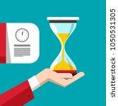 hourglass symbol. vector sand... | Shutterstock .eps vector #1050531305