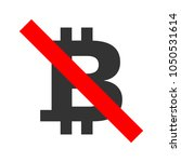 no cryptocurrency accepted sign....
