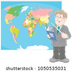 geography teacher with a... | Shutterstock .eps vector #1050535031