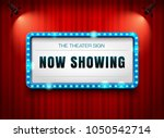 theater sign on curtain with... | Shutterstock .eps vector #1050542714