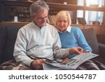 beautiful old couple are...   Shutterstock . vector #1050544787