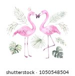 hand drawn watercolor... | Shutterstock . vector #1050548504
