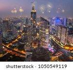 bangkok citys celebration with... | Shutterstock . vector #1050549119
