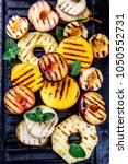 grilled fruits. grill fruits  ... | Shutterstock . vector #1050552731