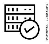 server check vector line icon