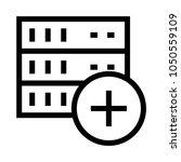 server add vector line icon