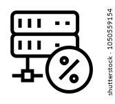 server discount vector line icon