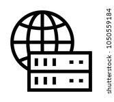 global server vector line icon