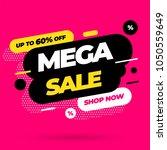sale banner template design ... | Shutterstock .eps vector #1050559649