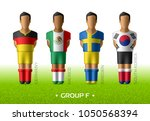 football   soccer team players... | Shutterstock .eps vector #1050568394