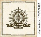 vintage seafarer label | Shutterstock . vector #1050568487