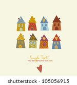 collection of cute houses in a...