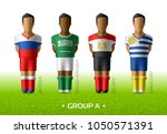 football   soccer team players... | Shutterstock .eps vector #1050571391