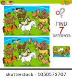 cartoon illustration of finding ... | Shutterstock .eps vector #1050573707