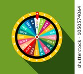 wheel of fortune with jackpot... | Shutterstock .eps vector #1050574064