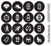 jogging  running people icons... | Shutterstock .eps vector #1050574205
