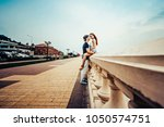 love story of the beautiful... | Shutterstock . vector #1050574751