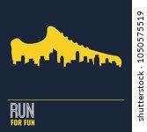 vector poster   running  sport... | Shutterstock .eps vector #1050575519
