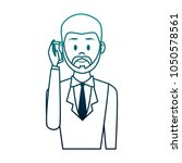 businessman on phone | Shutterstock .eps vector #1050578561