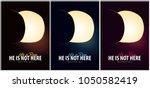 he is risen. celebrate the... | Shutterstock .eps vector #1050582419