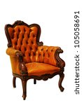 classical tan leather sofa... | Shutterstock . vector #105058691