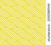 vector yellow geometric pattern.... | Shutterstock .eps vector #1050589544