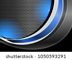 blue abstract template for card ... | Shutterstock .eps vector #1050593291