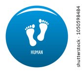 human step icon blue circle... | Shutterstock . vector #1050598484