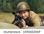 Soviet Soldier With Machine Gu...