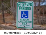reserved parking sign handicap...   Shutterstock . vector #1050602414