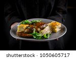 simple and elegant fine dining... | Shutterstock . vector #1050605717
