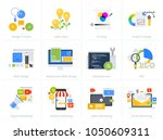 set of flat design style... | Shutterstock .eps vector #1050609311