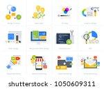 set of flat design style... | Shutterstock .eps vector #1050609311