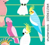 seamless pattern with cute... | Shutterstock .eps vector #1050611564