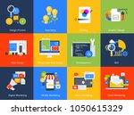 flat design concept icons.... | Shutterstock .eps vector #1050615329