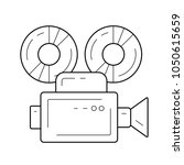 video camera vector line icon... | Shutterstock .eps vector #1050615659