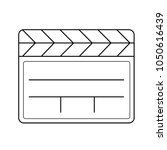 clapboard vector line icon... | Shutterstock .eps vector #1050616439