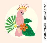 beautiful tropical parrot... | Shutterstock .eps vector #1050616754