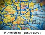 san antonio. usa map | Shutterstock . vector #1050616997
