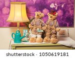 beautiful teddy bears with... | Shutterstock . vector #1050619181