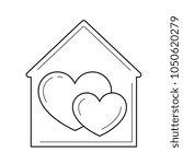 sweet home vector line icon... | Shutterstock .eps vector #1050620279