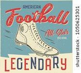 classic usa football t shirt... | Shutterstock .eps vector #1050625301