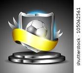 winning soccer football shield...   Shutterstock .eps vector #105062561