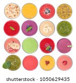 delicious fruit smoothies... | Shutterstock . vector #1050629435