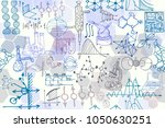 vector seamless pattern with... | Shutterstock .eps vector #1050630251